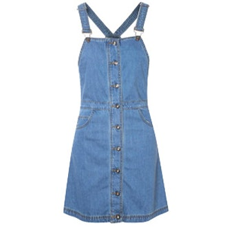 Blue Denim Dungaree Pinafore Dress