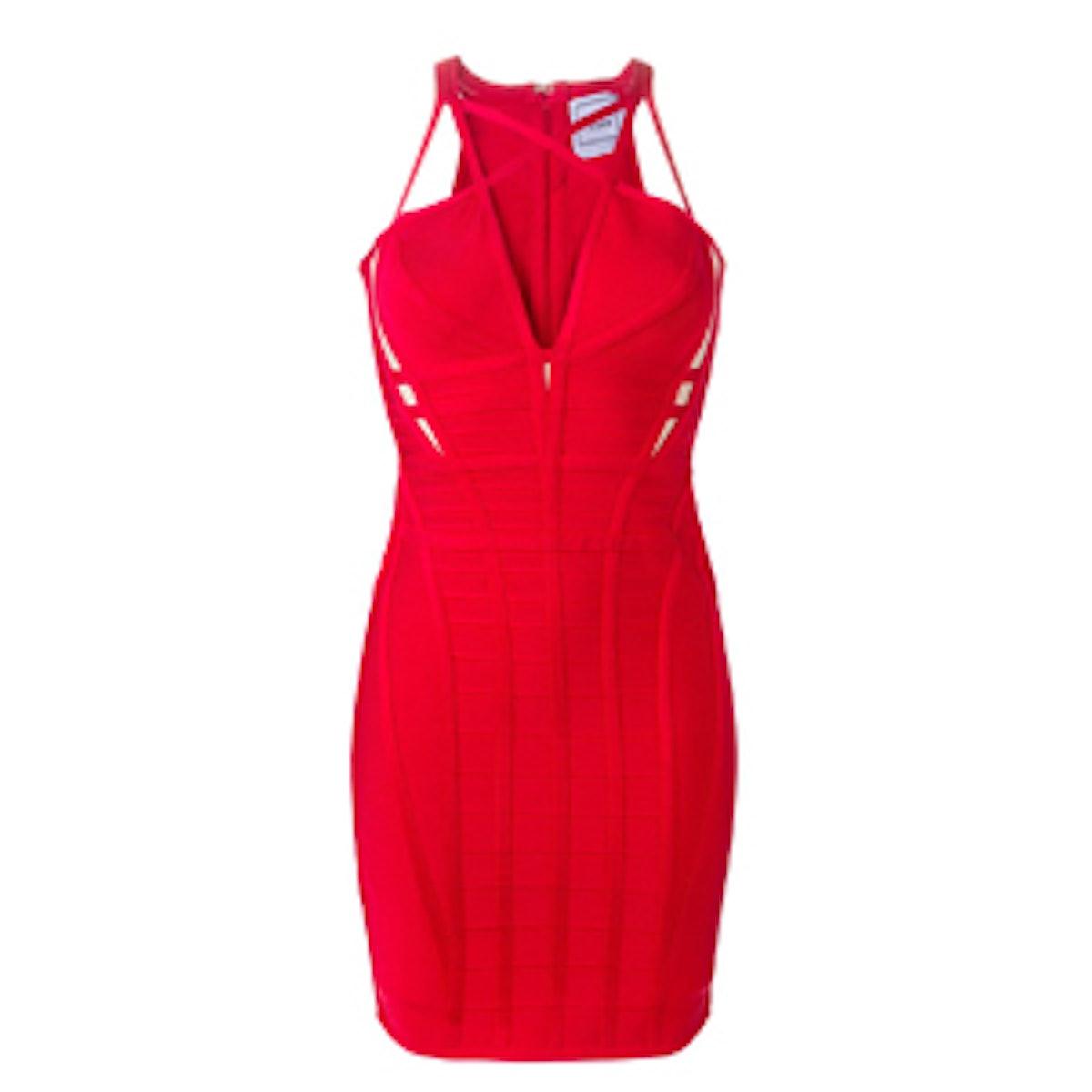 Crisscross Bandage Dress