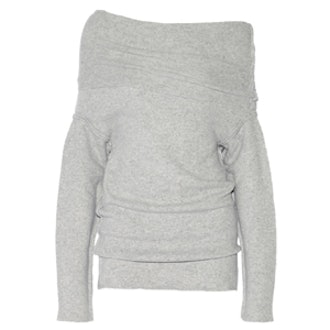 Off The Shoulder Stretch Wool Blend Sweater