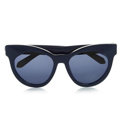 Starburst Cat-Eye Acetate Sunglasses