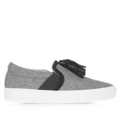 Leather-Tasseled Sneakers