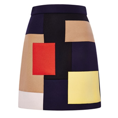Multicolored Patchwork Wool Skirt