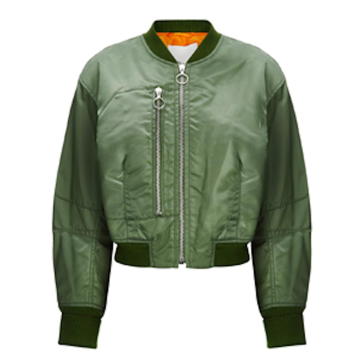 Khaki Padded Bomber Jacket