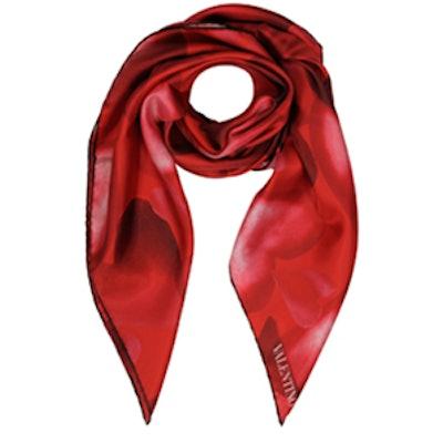 Red Silk Scarf