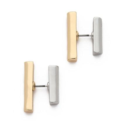 Bar Two Side Earrings