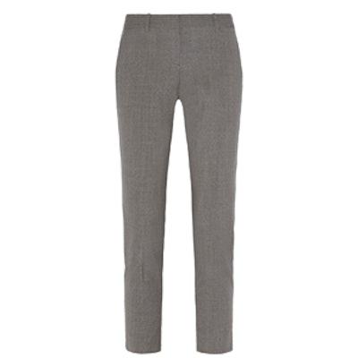 Testra Stretch-Wool Straight-Leg Pants