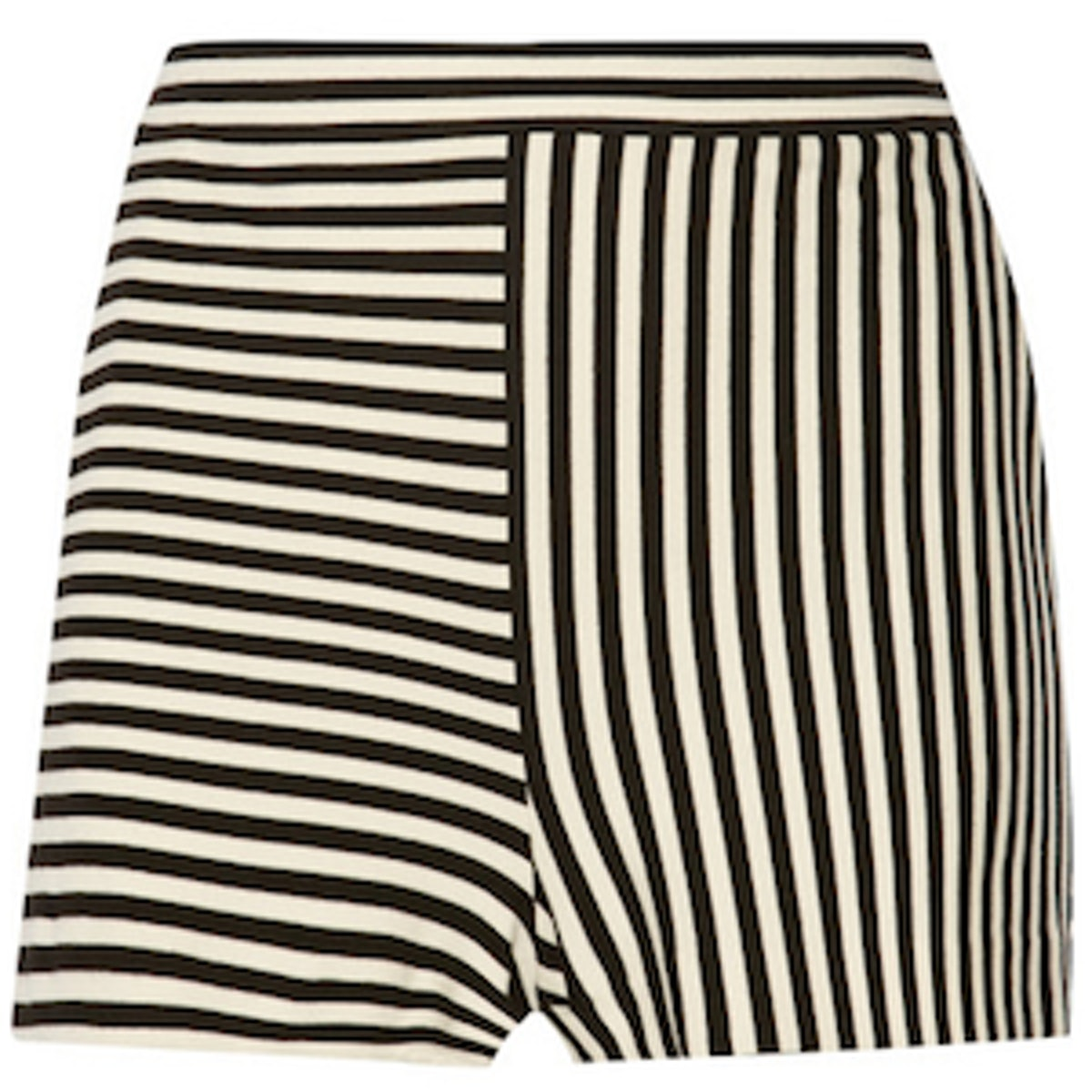 Ren Striped Cotton Blend Jersey Shorts