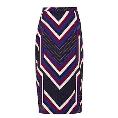 Chevron Stripe Wrap Skirt