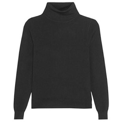 Stretch-Knit Turtleneck Sweater
