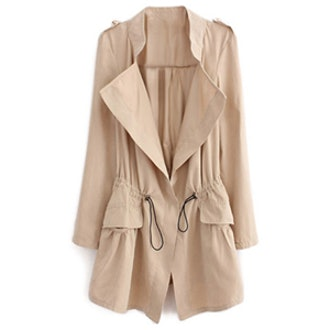 Thin Lapel Suede Trench Coat
