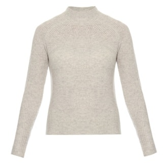 Mock-Neck Cashmere Sweater