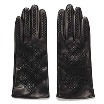 Cut Work Leather Gloves