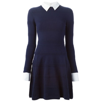 Detachable Collar Knit Dress