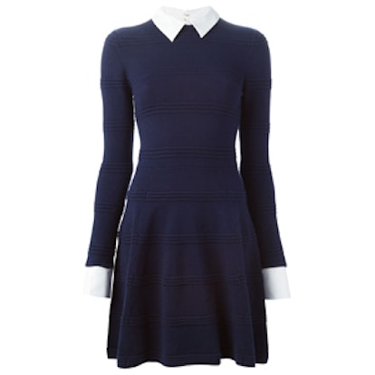 Detachable Collar Knit Dress