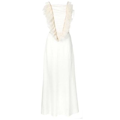 Ruffled Tulle Bib Dress