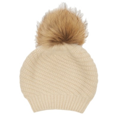 Holly Fur Pom Beanie