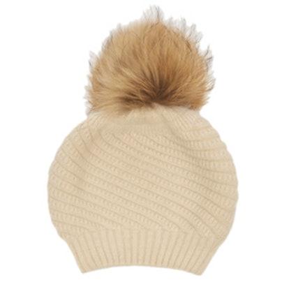 Holly Fur Pom Beanie