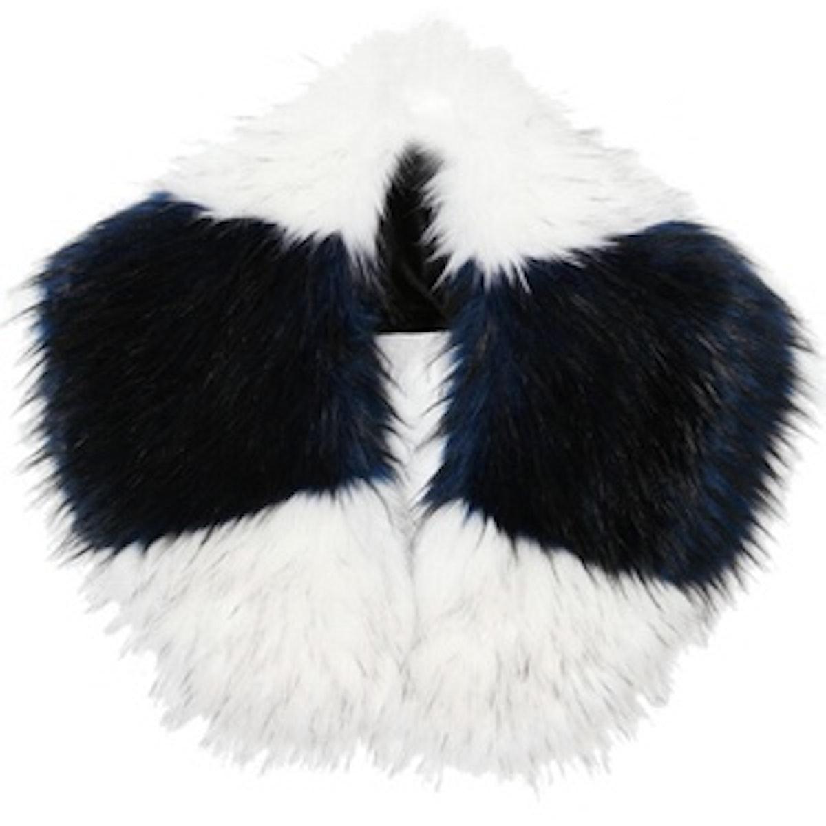 Jayley Contrast Stripe Faux Fur Scarf