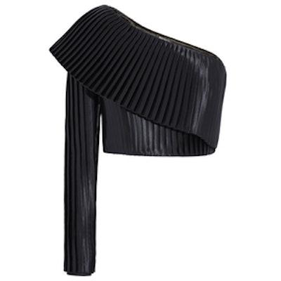 One-Shoulder Plisse Top