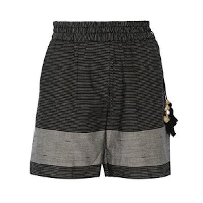 Striped Cotton Shorts