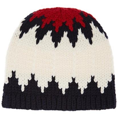 Snow Capsule Intarsia Wool Beanie
