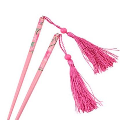 Pink Tassel Pink Hair Chopsticks