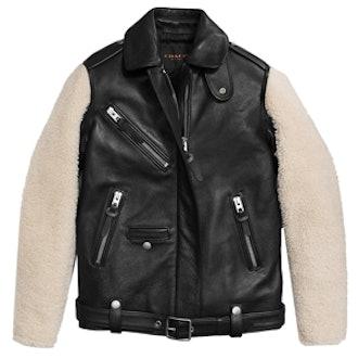 Sheepskin Sleeve Jacket