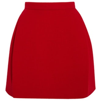Wool Blend Crepe Skirt