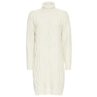 Cable Knit Turtleneck Dress