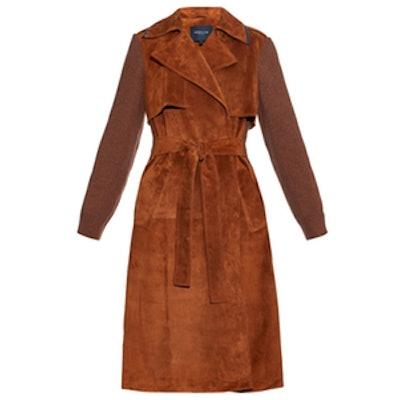 Suede Trench Coat