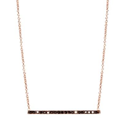 Black Thin Bar Necklace