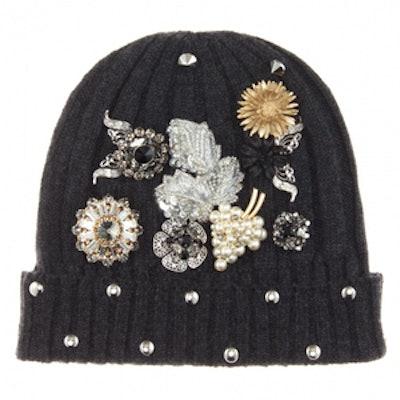 Embellished Cashmere Hat
