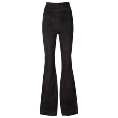 Flared Suede Trousers