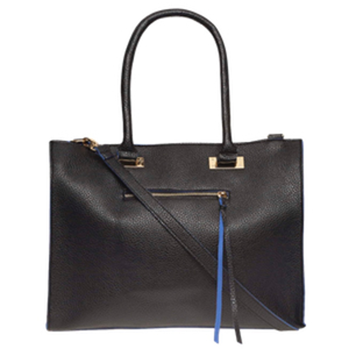Black and Blue Soft Tote Bag