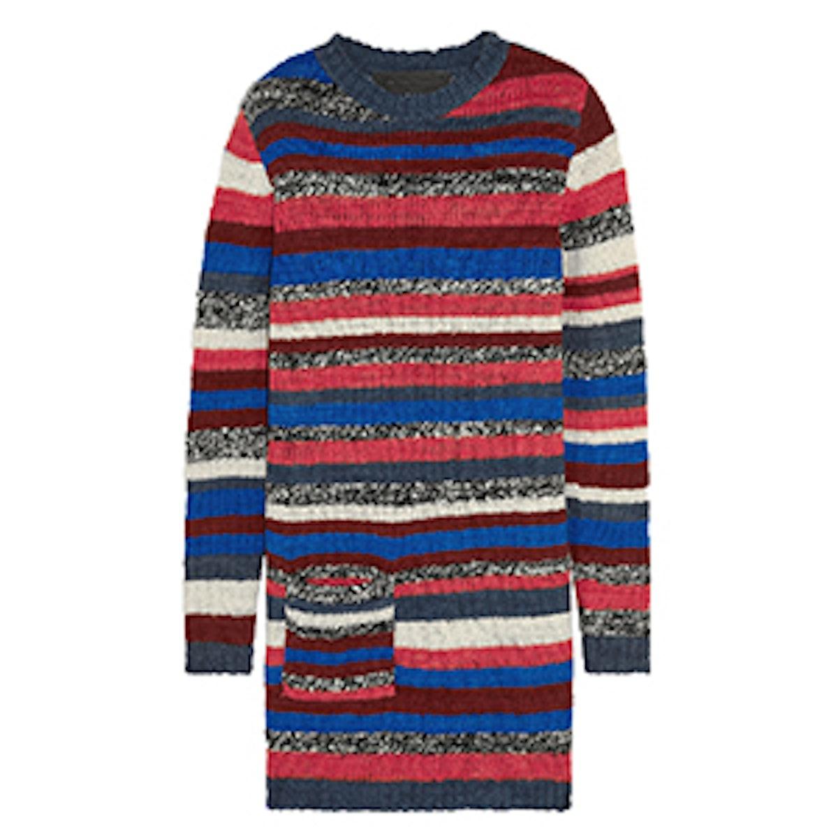 Rockin Moroccan Striped Cashmere Mini Sweater Dress