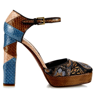 Jacquard and Snakesin Pumps