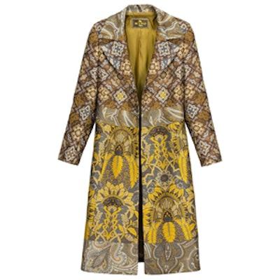 Patchwork Jacquard Long Coat