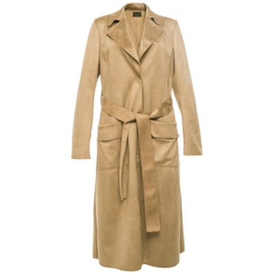 Light Brown Suedette Trench Coat