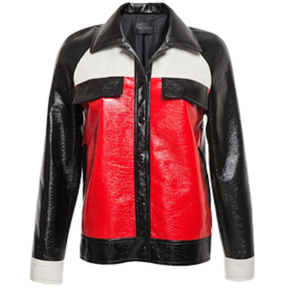 Color Block Shine Jacket