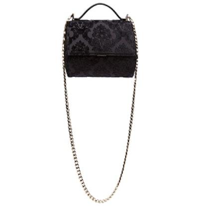 Black Velvet Devoree Mini Pandora Box Bag