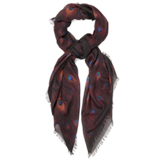 Peacock Cashmere And Silk-Blend Scarf