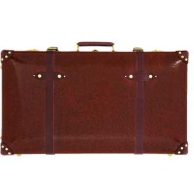 Leather-trimmed Lacquered Suitcase