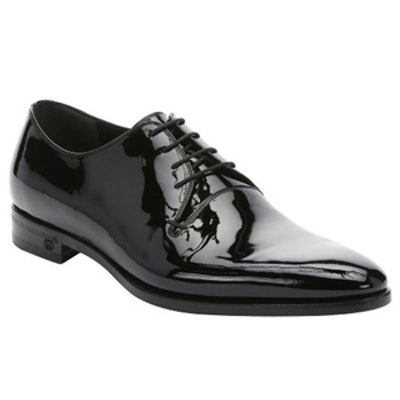 Patent Leather Lace-Up Oxfords