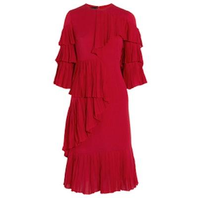 Ruffled Silk-Georgette Dress