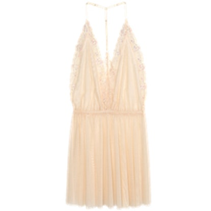 Mesh & Lace Nightgown