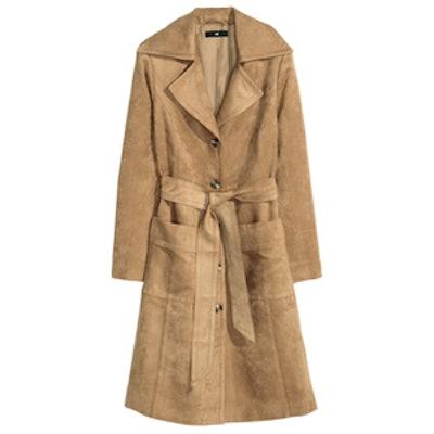 Coat in Imitation Suede