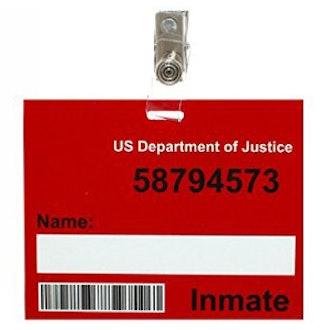 Prison Name Badge