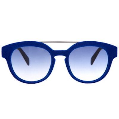 Velvet Double-Bridge Sunglasses