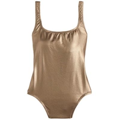 Metallic One-Piece Swimsuit