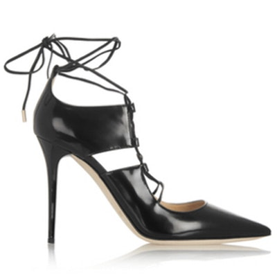 Hoops Patent Leather Pumps
